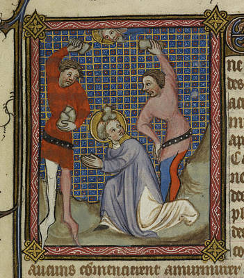 Martyrdom Of Saint Stephen Print by British Library