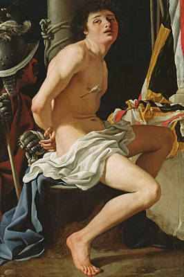 Tied-up Painting - Martyrdom Of St Sebastian by Bartolomeo Schedoni