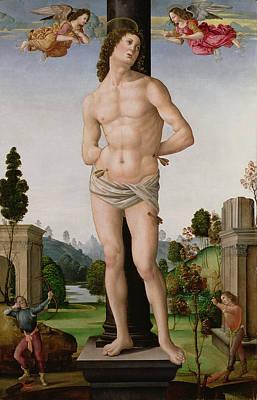 Martyrdom Of St. Sebastian, C.1490-95 Art Print