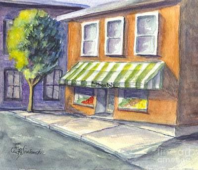 Marty Painting - Marty's Market by Carol Wisniewski