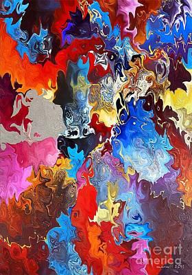 Coy Fish Michael Creese Paintings - Marucii 308-07-13 Abstract by Marek Lutek