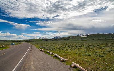 Photograph - Marvelous Drive Through Yellowstone by John M Bailey