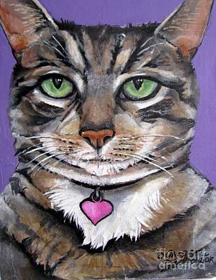 Marvelous Minnie The Gallery Cat Art Print