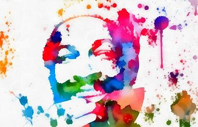 Marvin Gaye Paint Splatter Art Print by Dan Sproul
