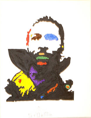 Print featuring the painting Marvin Gaye by Stormm Bradshaw