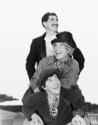 Marx Photograph - Marx Brothers - Groucho Harpo And Chico Marx by MMG Archive Prints