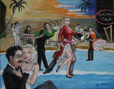 Ballroom Painting - Marx Brothers by Larry Lamb