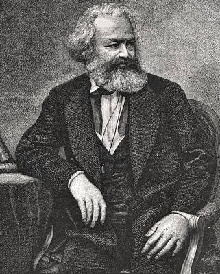 Karl Painting - Marx by French School
