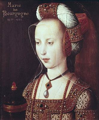 Wood Necklace Photograph - Mary 1457-1482. Duchess Of Burgundy by Everett
