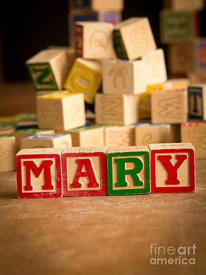 Mary - Alphabet Blocks Art Print by Edward Fielding