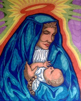 Mary And Baby Jesus Original by Michael Toth