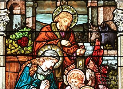 Photograph - Mary And Joseph Adore The Baby Jesus by Adam Jewell