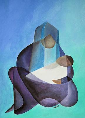 Painting - Mary And Messiah by Tracey Harrington-Simpson