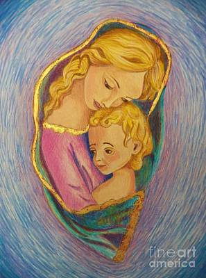 Painting - Mary And The Infant Jesus by Judy Via-Wolff
