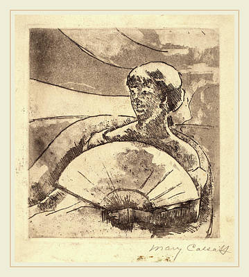 No 3 Drawing - Mary Cassatt, In The Opera Box No. 3, American by Litz Collection