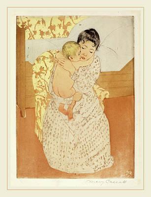 Caress Drawing - Mary Cassatt, Maternal Caress, American, 1844-1926 by Litz Collection