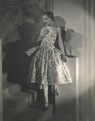 Mary Guina Wearing A Louiseboulanger Dress Art Print