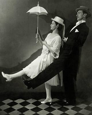 Parasol Photograph - Mary Hay And Clifton Webb Dancing by Edward Steichen