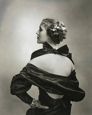 1930s Fashion Photograph - Mary Heberden Wearing A Satin Dress by Edward Steichen