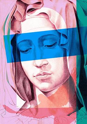 Mother Mary Digital Art - Mary IIi by Savyra Meyer-Lippold