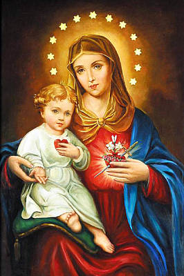 Mary Immaculate Heart Art Print