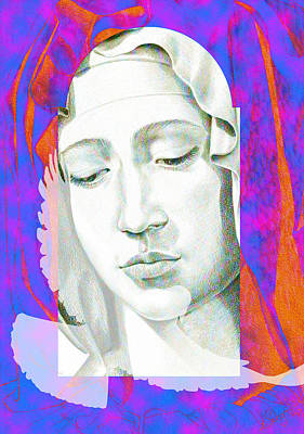 Mother Mary Digital Art - Mary Iv by Savyra Meyer-Lippold