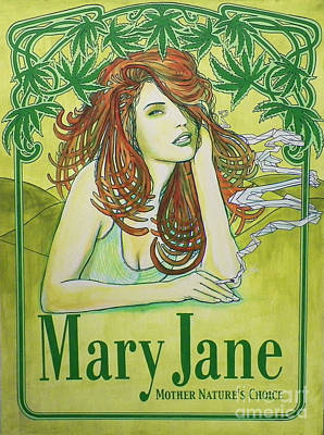 Mary Jane Art Print by Derek Donnelly