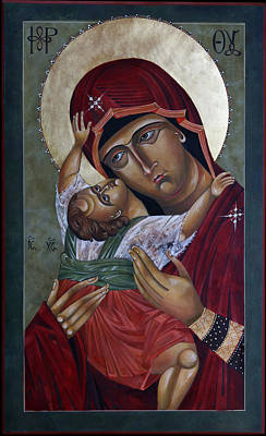 Catholic For Sale Painting - Mary Kadiotissa by Mary jane Miller