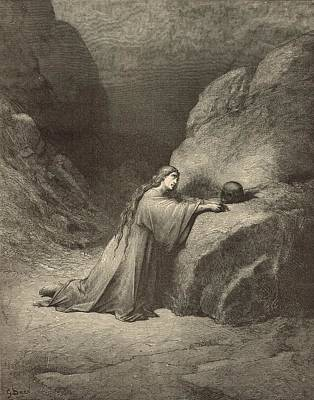 Scriptural Drawing - Mary Magdalene by Antique Engravings