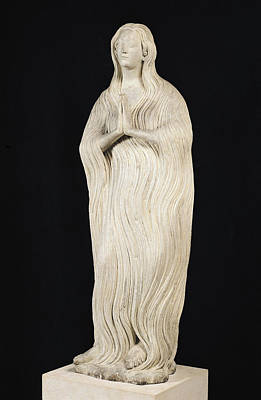 Madeleine Photograph - Mary Magdalene, C.1310 Stone by French School