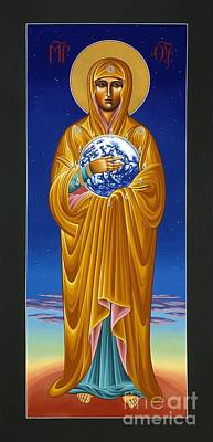 Iconography Painting - Mary Most Holy Mother Of All Nations 080 by William Hart McNichols