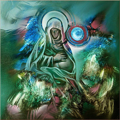 Painting - Mary Mother Of Jesus by Glenn Bautista
