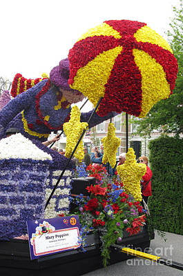 Photograph - Mary Poppins. Flower Parade. Blumencorso Holland 2011 by Ausra Huntington nee Paulauskaite