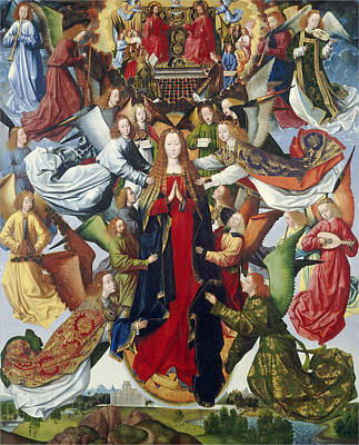 Lute Photograph - Mary, Queen Of Heaven, C. 1485- 1500 Oil On Panel by Master of the Legend of St. Lucy