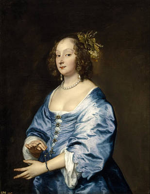 Anthony Van Dyck Painting - Mary Ruthven Lady Van Dyck by Anthony van Dyck