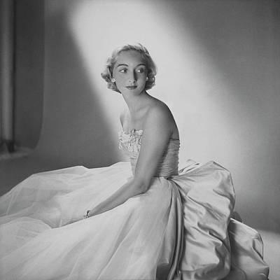 Strapless Photograph - Mary Sargent Ladd Wearing A Tulle Dress by Clifford Coffin