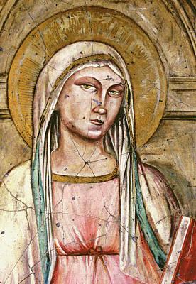 Madonna Painting - Mary Super Petram - Study No. 2 by Steve Bogdanoff