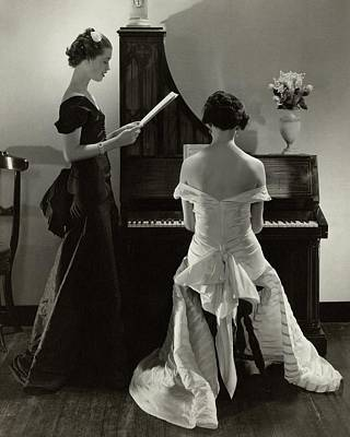 Piano Photograph - Mary Taylor And Mrs Robert H Mcadoo by Edward Steichen