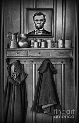 Mary Todd Lincoln's Coat Rack Art Print by Lee Dos Santos