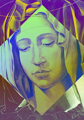 Mother Mary Digital Art - Mary V by Savyra Meyer-Lippold