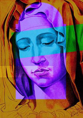 Pieta Digital Art - Mary Vi by Savyra Meyer-Lippold
