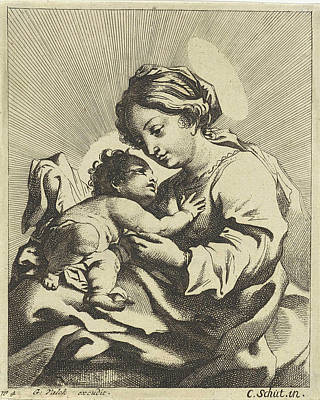 Mary With The Christ Child, Anonymous, Gerard Valck Art Print by Gerard Valck