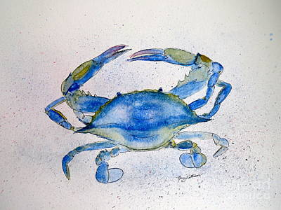 Painting - Maryland Blue Crab  by Nancy Patterson