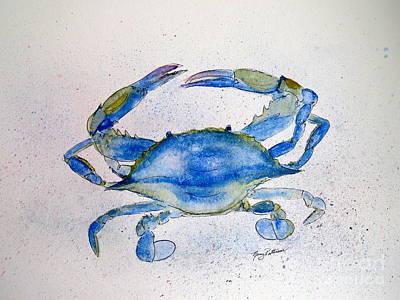Maryland Blue Crab  Art Print by Nancy Patterson
