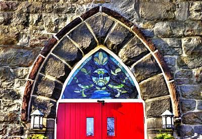 Maryland Country Churches - Saint Anthony Shrine Church Emmitsburg - Main Entrance Close1 Art Print