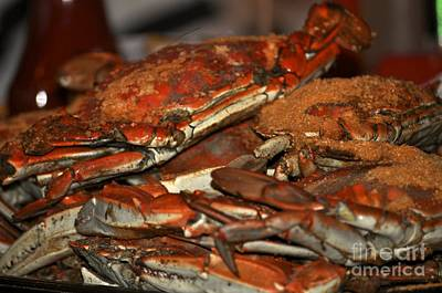 Photograph - Maryland Crabs by Kathy Flood