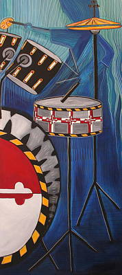 Maryland Drums Art Print by Kate Fortin