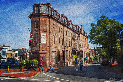 Crosswalk Digital Art - Maryland Inn - Annapolis by Brian Wallace