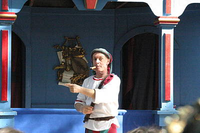 Maryland Renaissance Festival - A Fool Named O - 121227 Print by DC Photographer