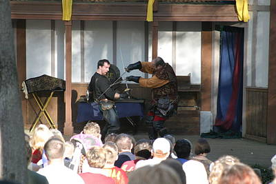 And Photograph - Maryland Renaissance Festival - Hack And Slash - 12129 by DC Photographer
